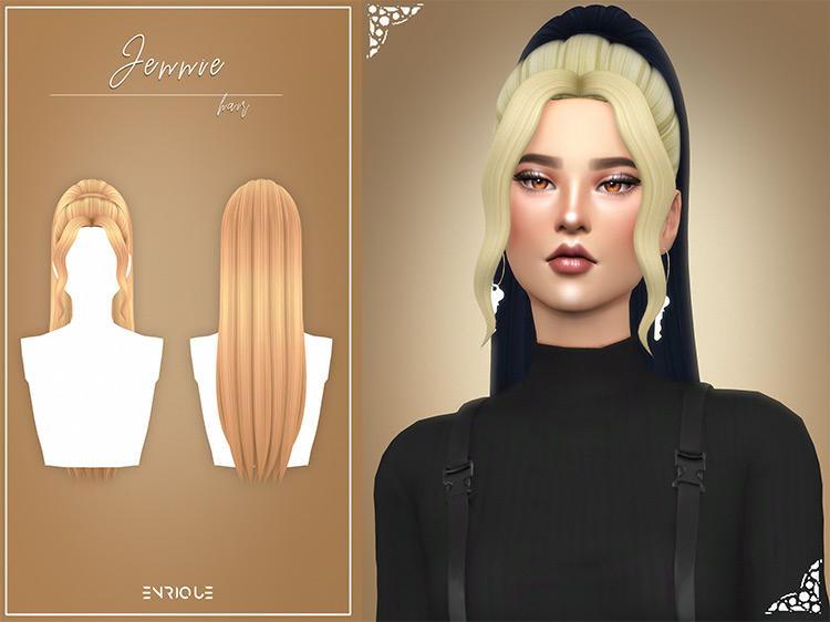 Jennie Hairstyle Sims 4 CC