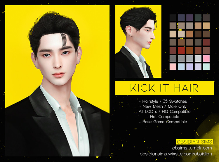 Kick It Hair for Sims 4