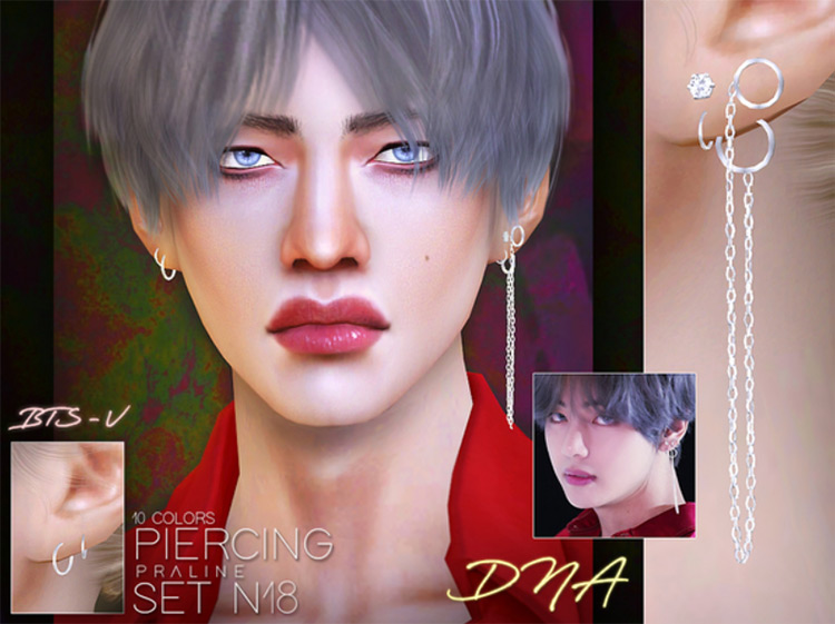 BTS Piercing Set TS4 CC