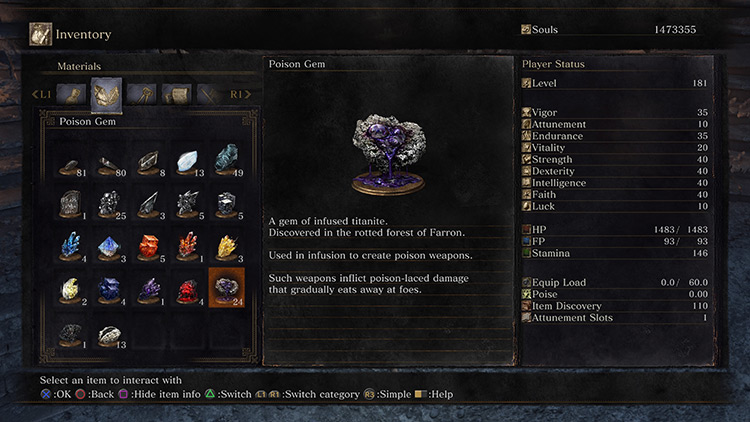 Poison from Dark Souls 3