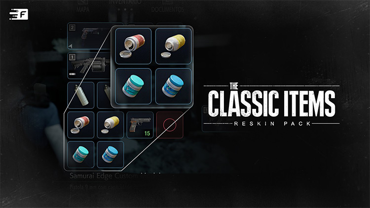 The Classic Items Pack Resident Evil 3 Remake mod