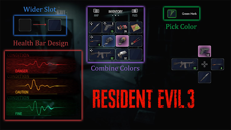Classic Inventory RE3 mod for Resident Evil 3 Remake