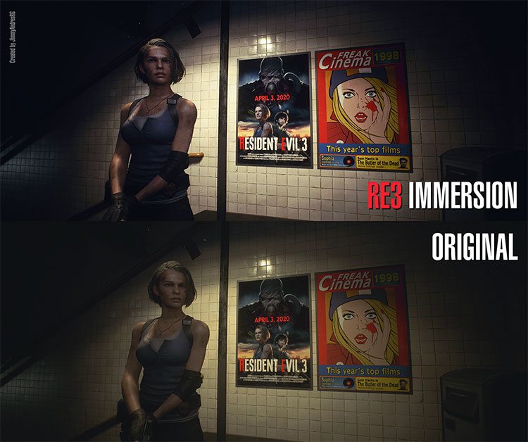 RE3 Immersion – Reshade mod for RE3 Remake