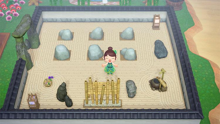 Rock space zen garden area - ACNH