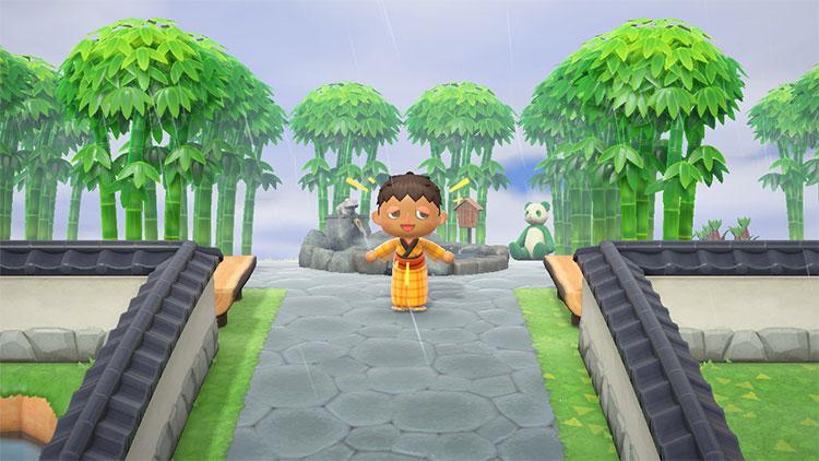 Meditation Area Entrance - ACNH Island Idea
