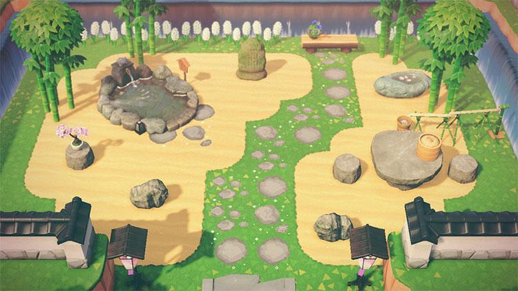 Sand Garden Idea for ACNH