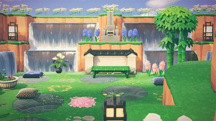 Zen Waterfall Area in ACNH