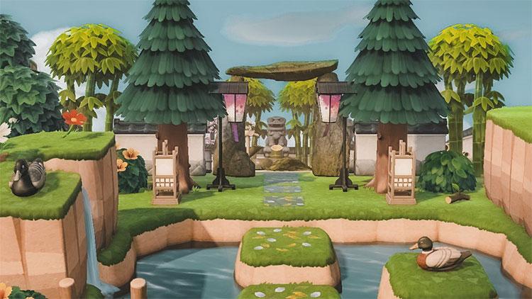 Zen Forest Entrance Idea - ACNH