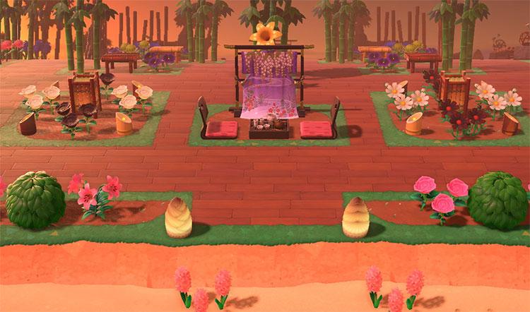 Afternoon Tea Zen Garden - ACNH Idea