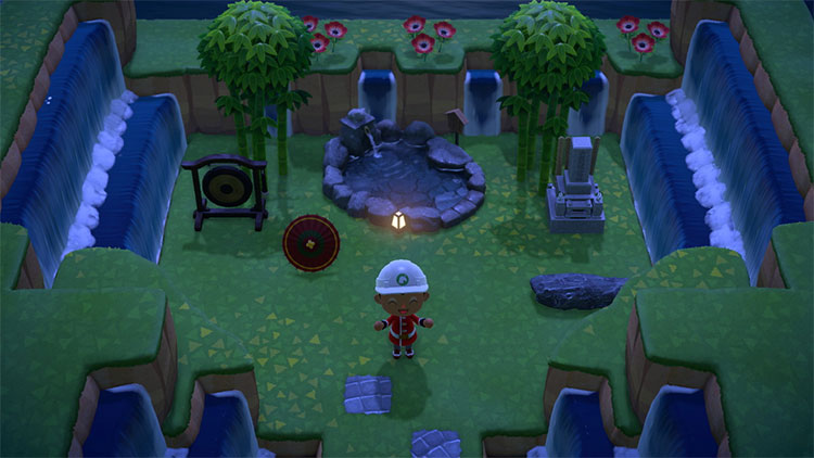 ACNH Hidden Garden Idea at Night