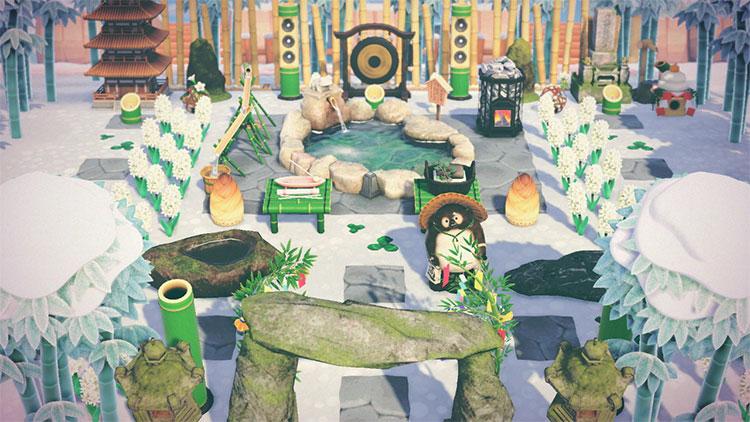 Busy Garden Space Idea in ACNH