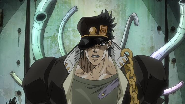 Jotaro Kujo in Jojo's Bizarre Adventure anime
