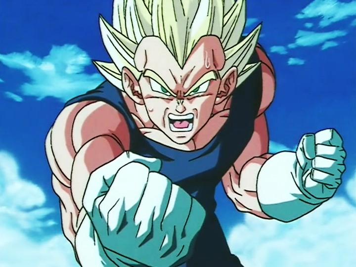 Vegeta from Dragon Ball Z anime