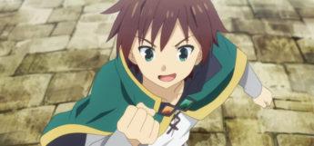 Kazuma Satou in KonoSuba Anime