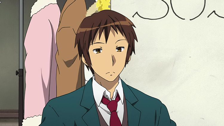 Kyon in The Melancholy of Haruhi Suzumiya