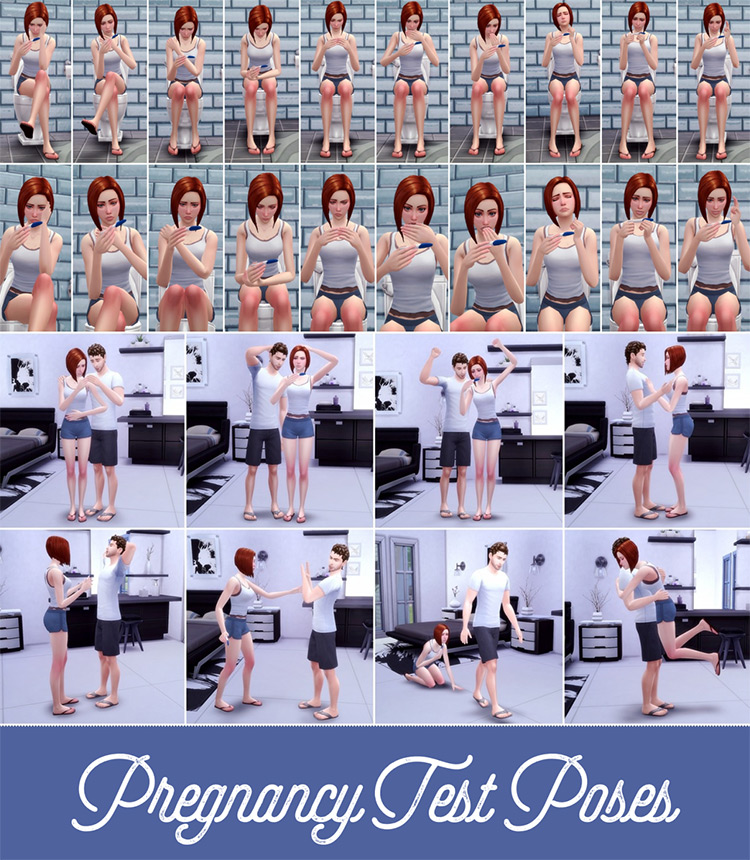 Pregnancy Test Poses by Atashi77 - The Sims 4