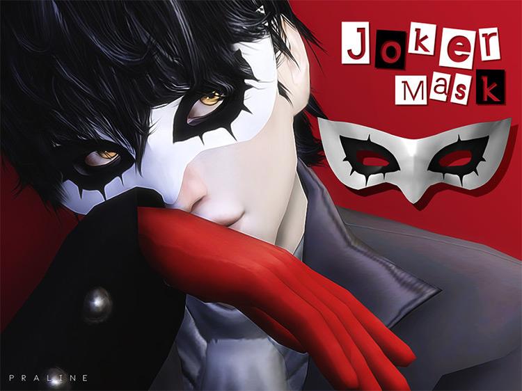 Joker's Mask (Persona 5) Sims 4 CC