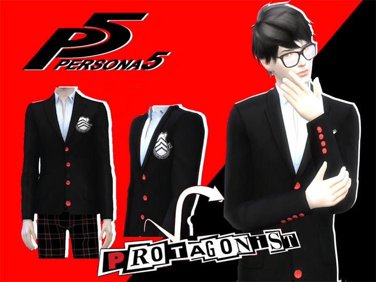 Shujin High Uniform (Persona 5) TS4 CC