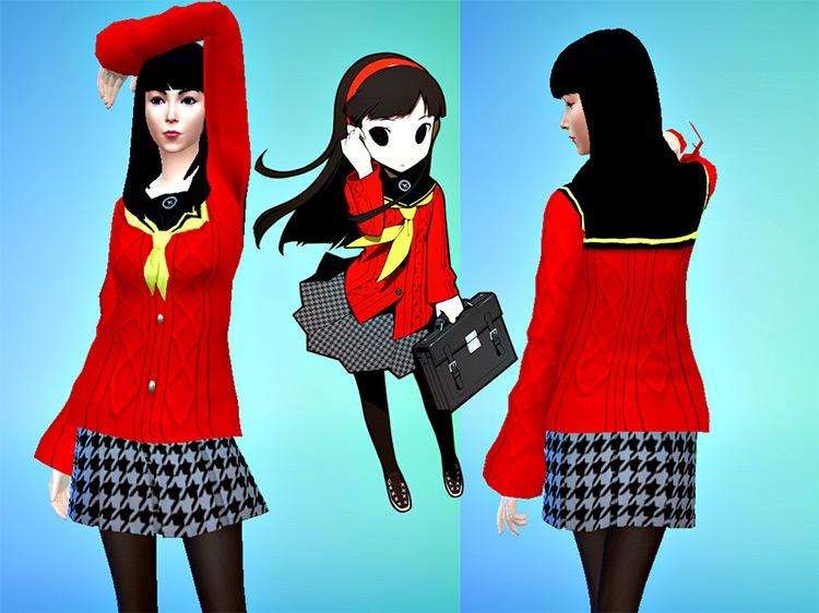 Yukiko Amagi Uniform (Persona 4) for Sims 4