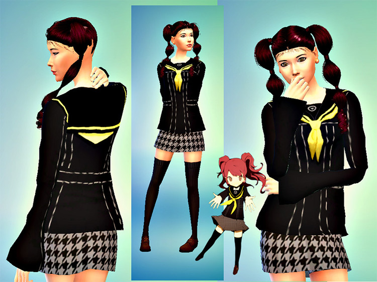 Yasogami High Female Uniform (Persona 4) TS4 CC