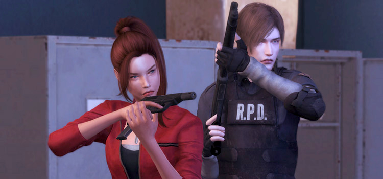 Leon and Claire from Resident Evil 2 - Sims 4 CC