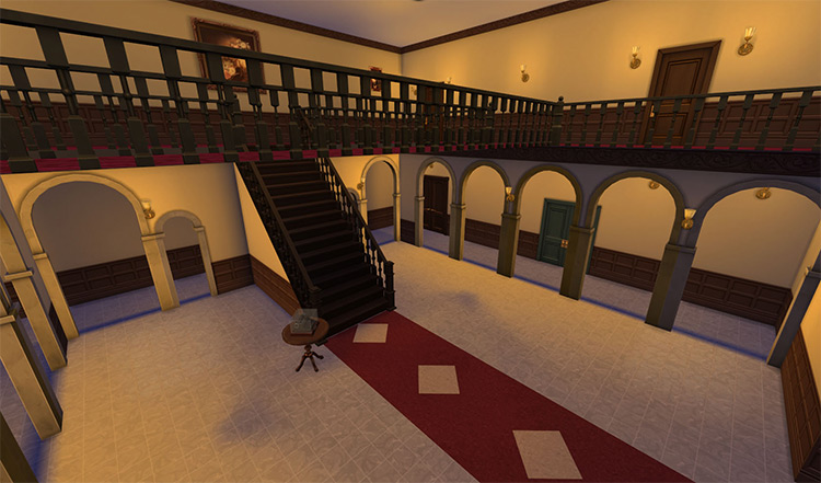 Spencer Mansion Re-created TS4 CC