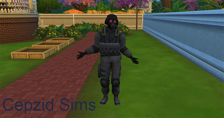 Hunk's Outfit (RE: ORC) Sims 4 CC