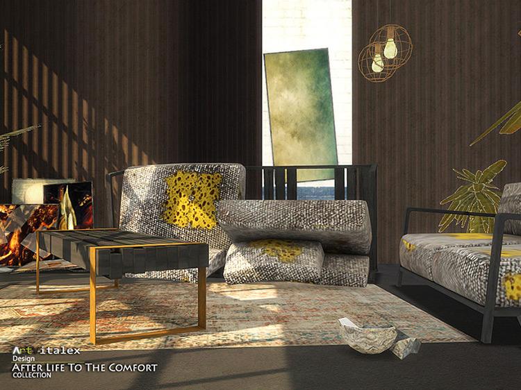 Extinction Dining Room + Living Room TS4 CC