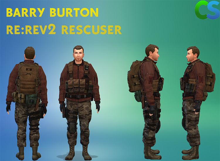Barry Burton Outfit (RE: Rev. 2) Sims 4