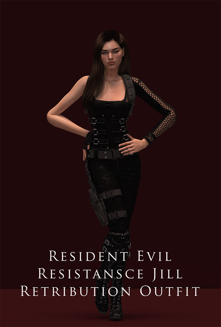 Jill Valentine Retribution Outfit (RE: Res.) CC Sims 4