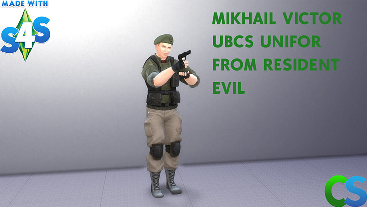 Mikhail Viktor Outfit (RE3) for Sims 4