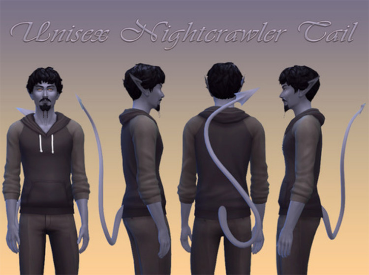 Nightcrawler Tail Unisex by NotEgain for Sims 4