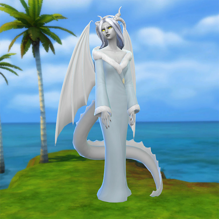 Dragon Tail by Zaneida & The Sims 4 screenshot