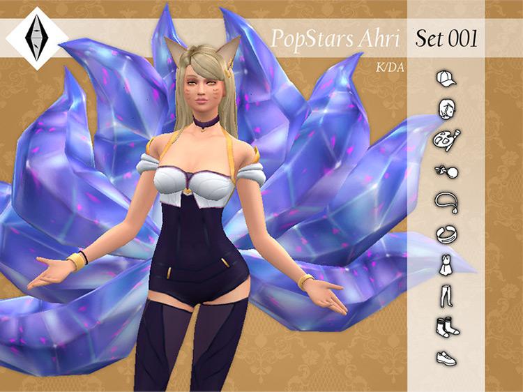 K/DA PopStars Ahri – Set001 by AleNikSimmer TS4 CC
