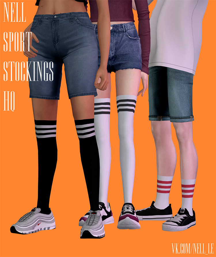 Sport Stockings by Nell Sims 4 CC