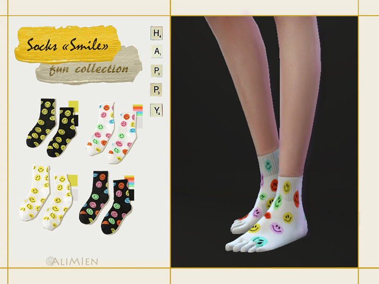 "Socks ""Smile"" by AliMlen Sims 4 CC"