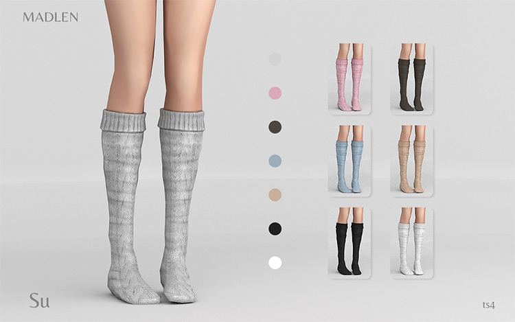 Madlun Su Socks by Madlen for Sims 4