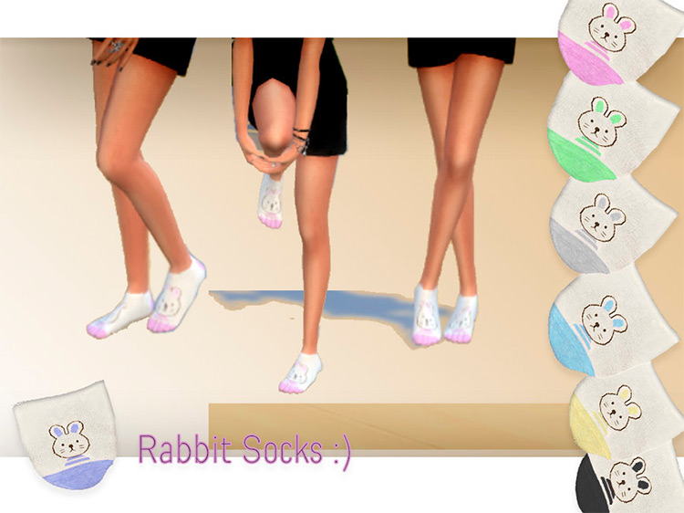 Rabbit Socks by eyquardjl2 Sims 4 CC screenshot