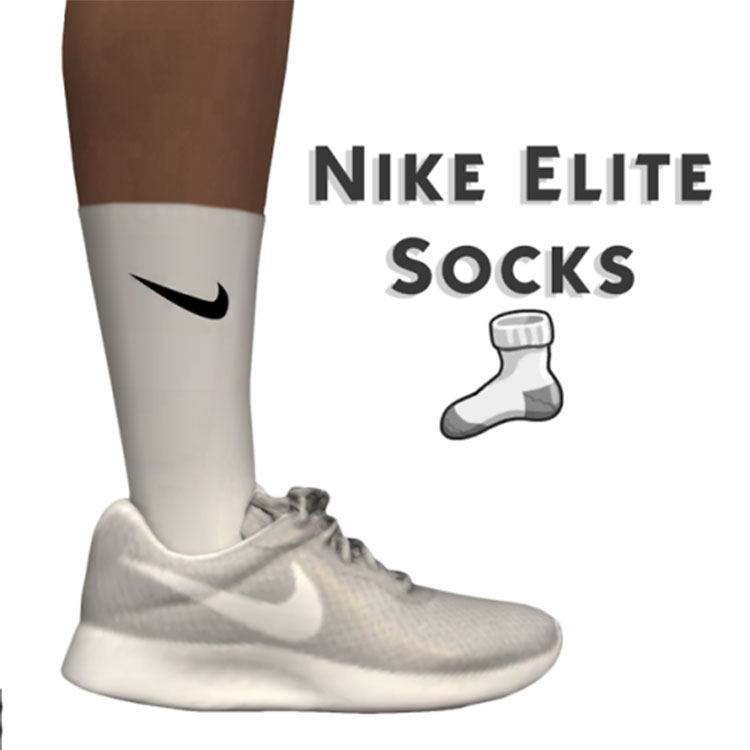 Nike Elite Socks CC for The Sims 4
