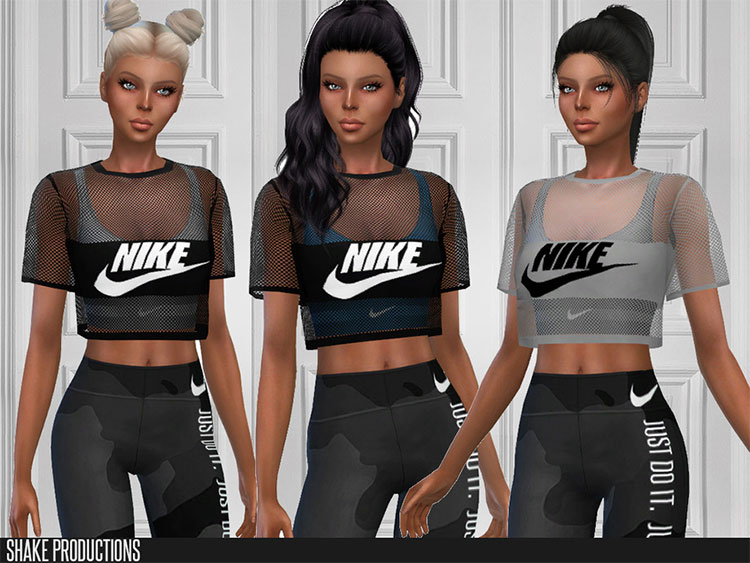 Nike Top CC for The Sims 4