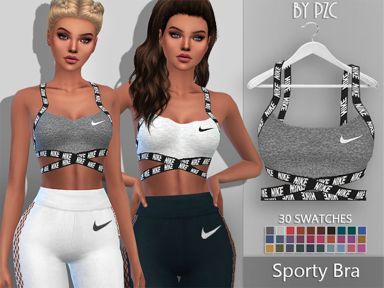 Nike Sporty Bra CC for The Sims 4