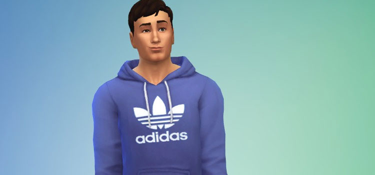 Blue Adidas Sweatshirt for Male Sim - TS4 CC
