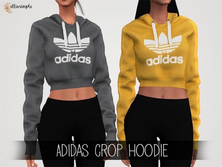 Adidas Crop Hoodie CC - The Sims 4