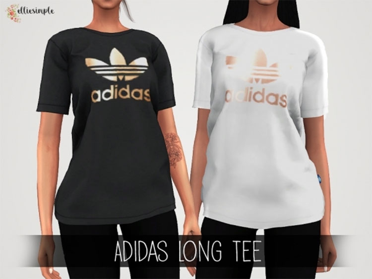Adidas Long Tee CC for The Sims 4