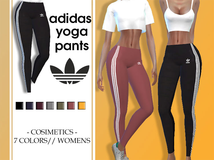 Adidas Yoga Pants for The Sims 4