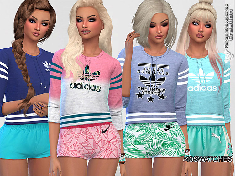 Athletic Adidas Sweatshirt CC Set - TS4