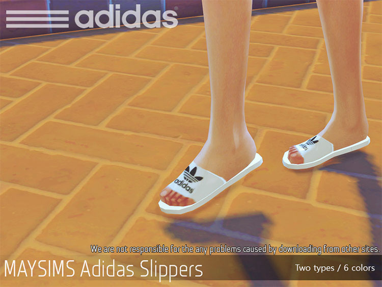 Adidas Slippers CC for The Sims 4