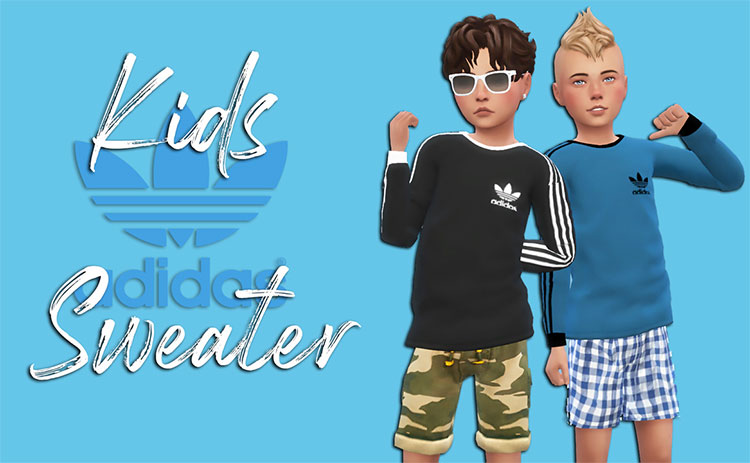 Kids Adidas Sweater CC for The Sims 4