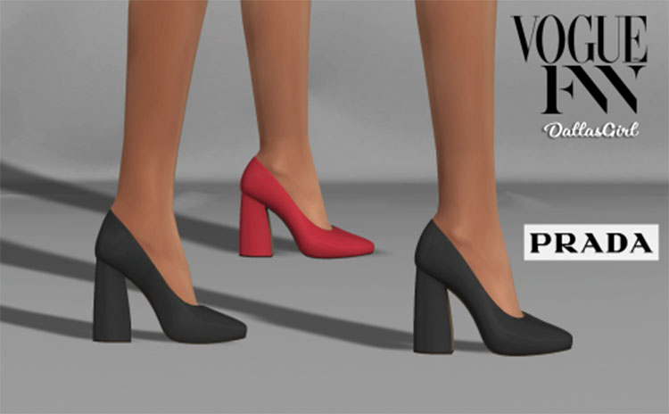 Prada Block Heels CC for TS4