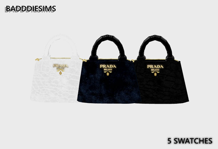 Velvet Milano Prada Handbag in The Sims 4
